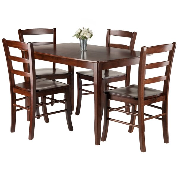 Fetter 5 Piece Solid Wood Dining Set By Red Barrel Studio Discount