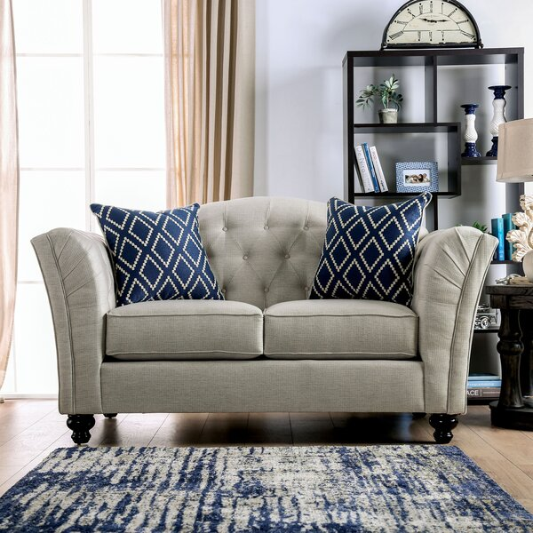 Chau Flared Arms Loveseat by Darby Home Co