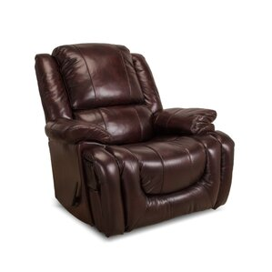 Velma Leather Manual Rocker Recliner by Darby Home Co
