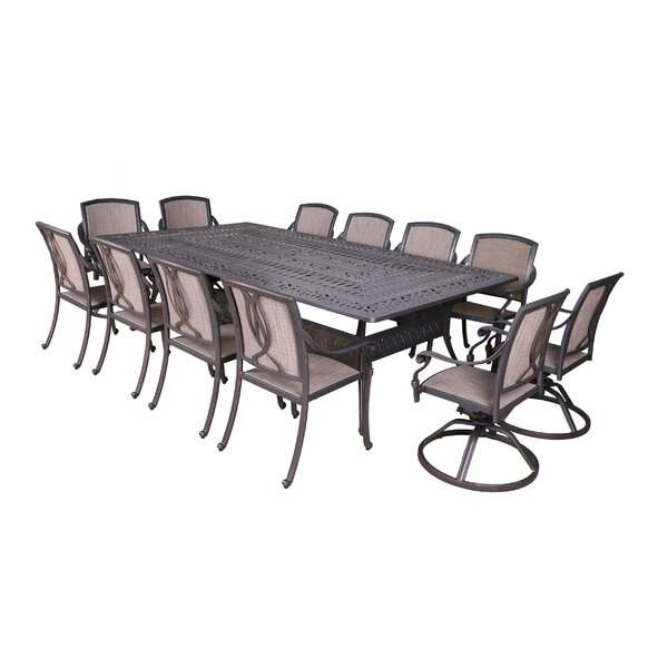 Gunter 13 Piece Dining Set by Fleur De Lis Living