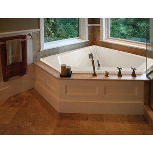 48 inch corner bathtub.  Corner Bathtubs You ll Love Wayfair