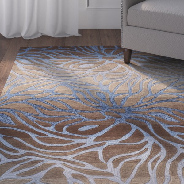 Niwot Hand-Woven Blue/Brown Area Rug by Bloomsbury Market