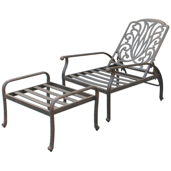 Lebanon Deep Seating Club Chair and Ottoman Set Frame by Three Posts