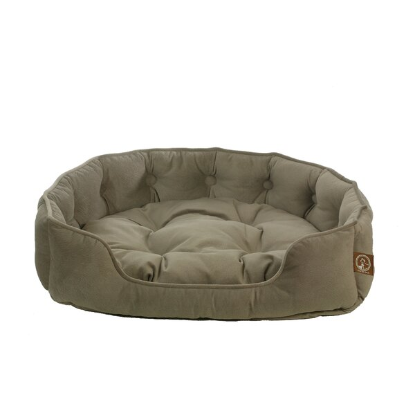 Faux Suede Snuggle Bolster Dog Bed by Unison