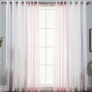Stubbs Solid Blackout and Sheer Thermal Grommet Curtain Panels