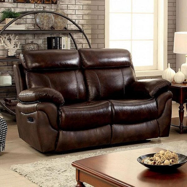 Check Price Hemsworth Leather Reclining 66.5