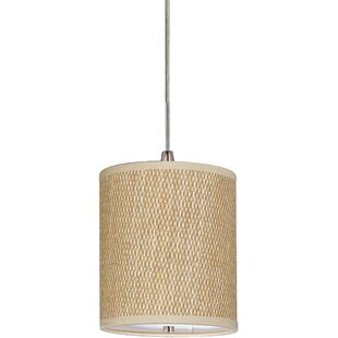 Denning 1 Light Fabric Shade Drum Pendant