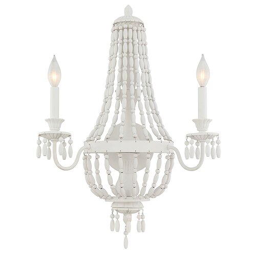Giulia 2-Light Candle Wall Light Fleur De Lis Living