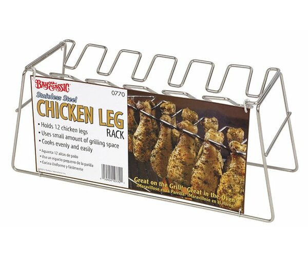 The Leg Rack Poultry Steamer and Grill Rack by Bayou Classic