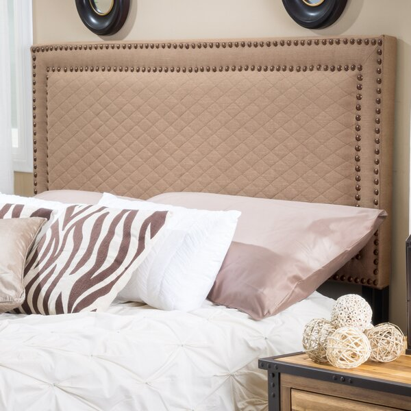 Lenoir Upholstered Panel Headboard by Charlton Home
