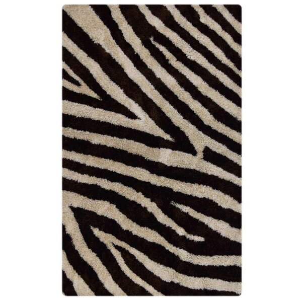 Suzie Shag Hand-Tufted Brown/Beige Area Rug by World Menagerie