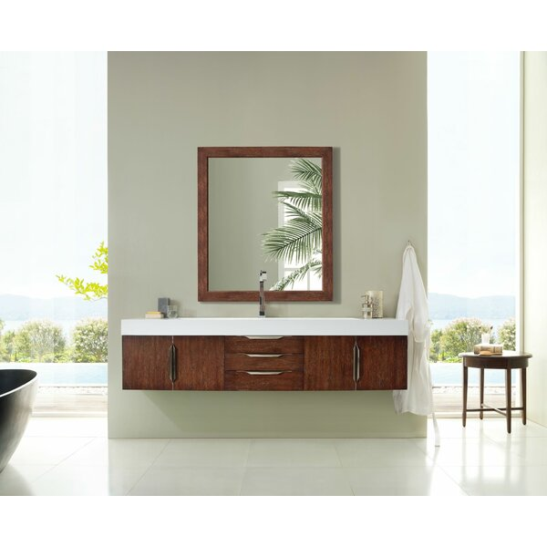Whitstran 73 Wall-Mounted Single Bathroom Vanity Set