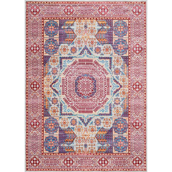 Ibrahim Red Area Rug by Bungalow Rose