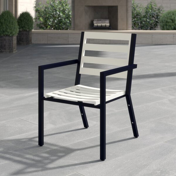 Palm Coast Slat Stacking Patio Dining Chair by Woodard