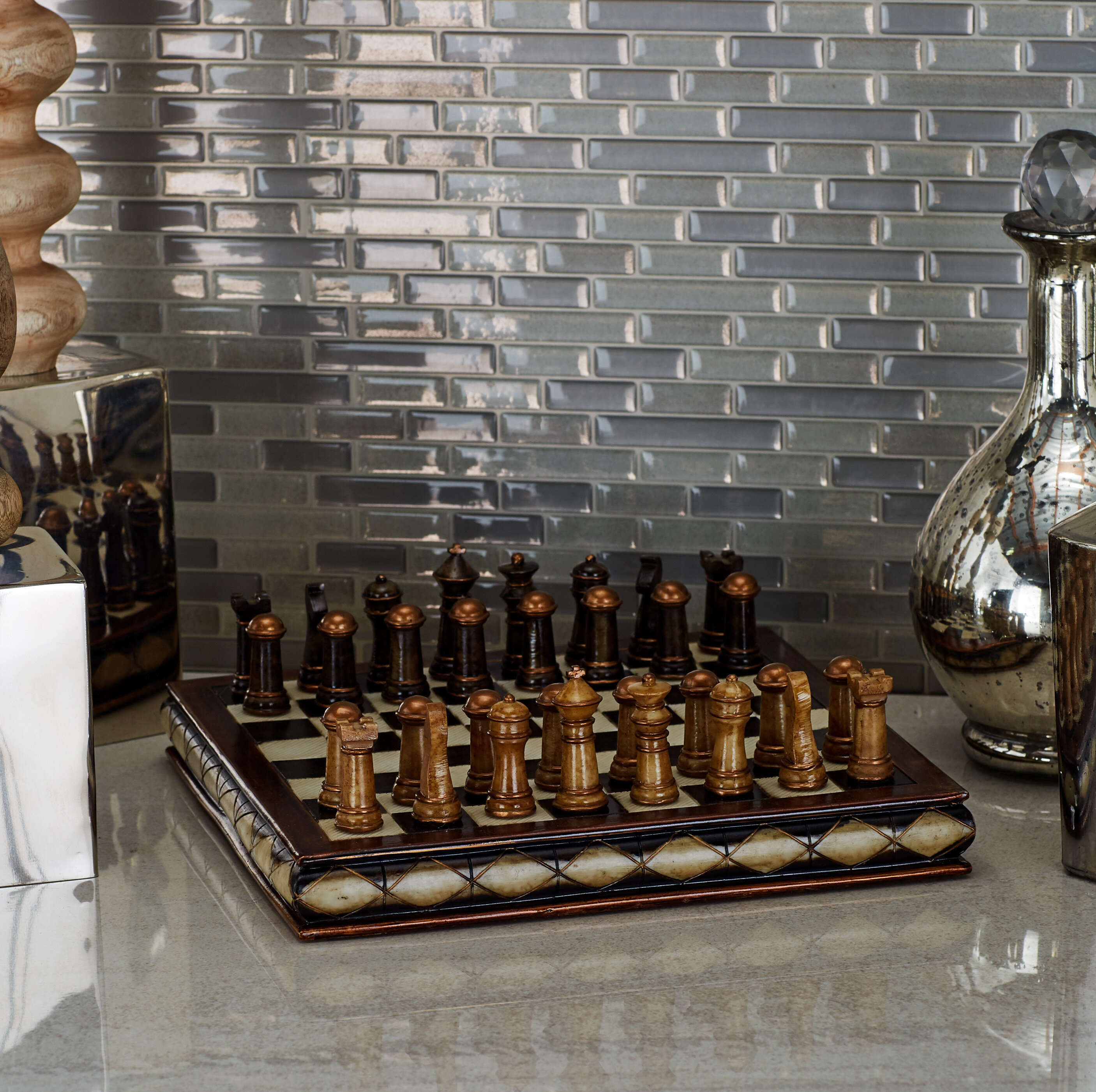 Chessboard and interior design: whats in common