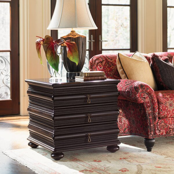 Royal Kahala Sands End Table With Storage By Tommy Bahama Home