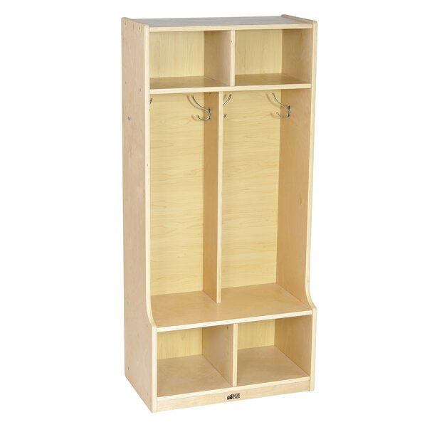 2 Tier 2 Wide Coat Locker by ECR4kids