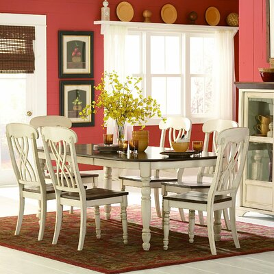 Scottville Extendable Dining Table Darby Home Co Base Finish: White