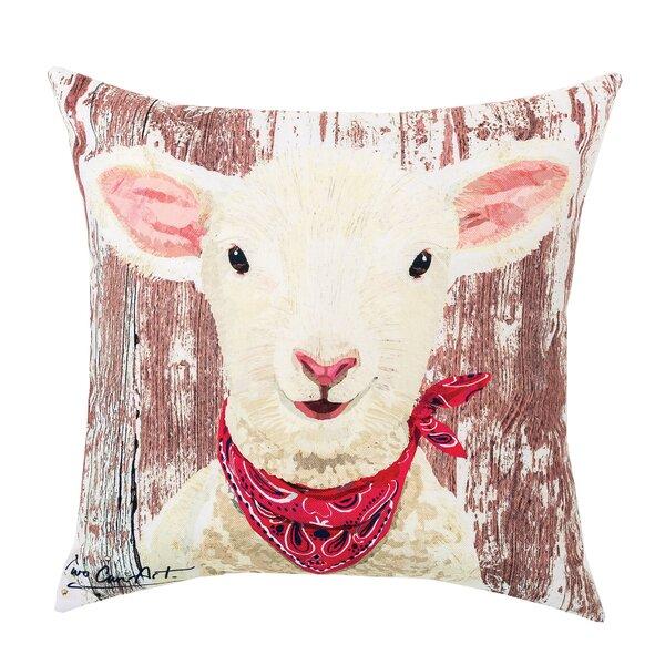Lamb Indoor/Outdoor Throw Pillow by C&F Home
