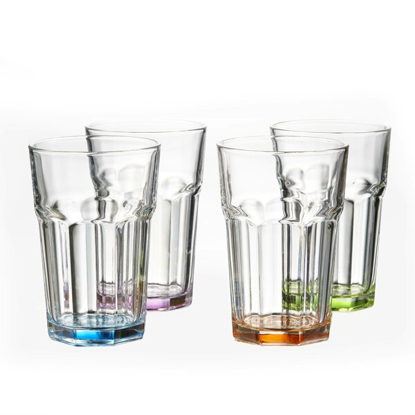 Bauer Colored 15 oz. Highball Glass (Set of 4) by Winston Porter