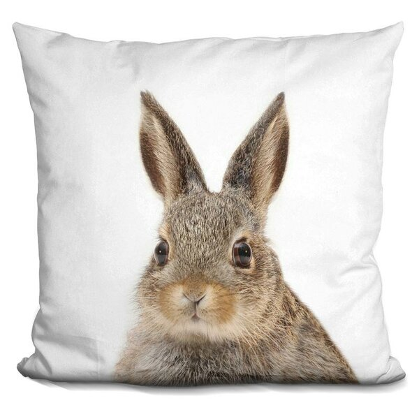 Rabbit Throw Pillow by East Urban Home