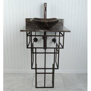 Best Mission Metal 22 Pedestal Bathroom Sink By D'Vontz