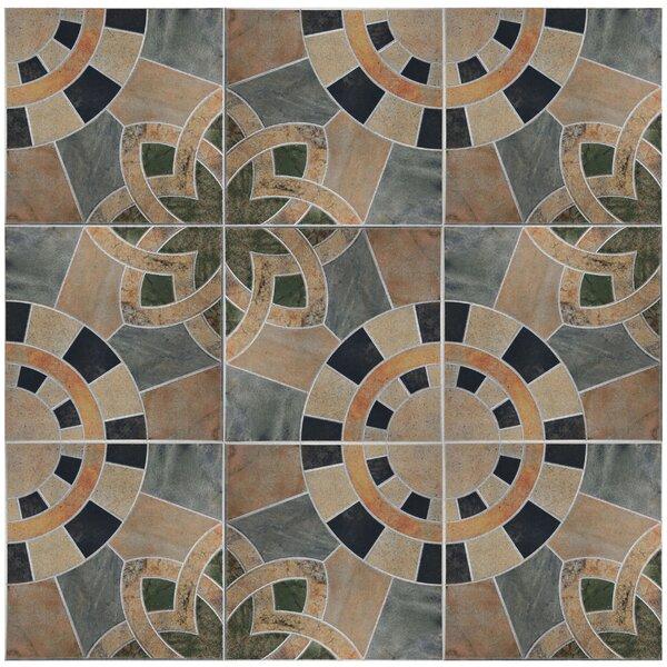 Cartamo 17.75 x 17.75 Ceramic Field Tile in Beige/Green by EliteTile