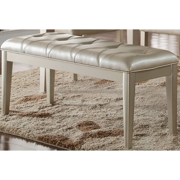 Raoul Faux Leather Bench by Rosdorf Park