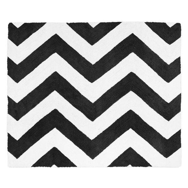 Chevron Black and White Rug by Sweet Jojo Designs