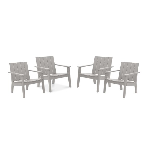 Galewood Chat Patio Chair (Set of 4) by Rosecliff Heights