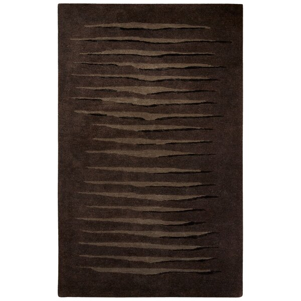 Etho Hand-Tufted Brown/Black Area Rug by Nikki Chu