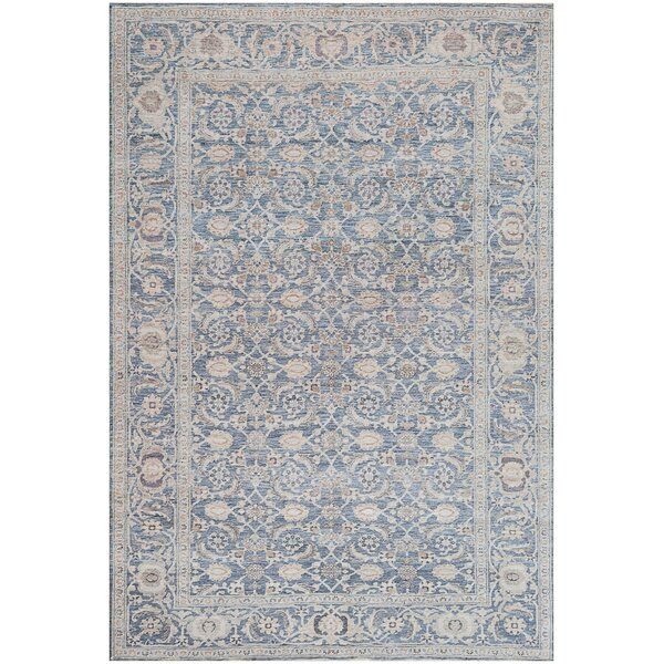 One-of-a-Kind Tabriz Exceptional Handwoven Wool Blue Indoor Area Rug by Mansour