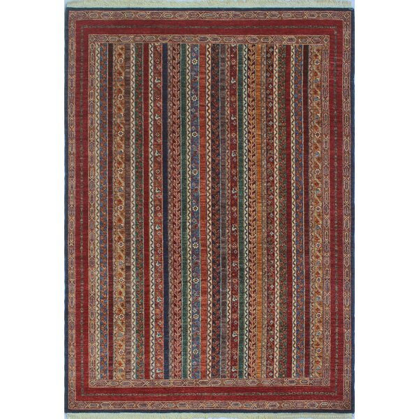 Bulluck Hand Knotted Wool Blue Area Rug by Bloomsbury Market