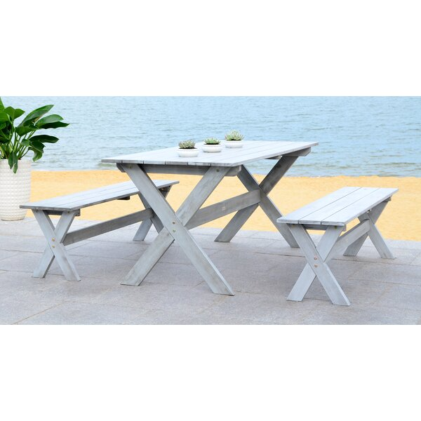 Lokshin 3 Piece Dining Set by Highland Dunes