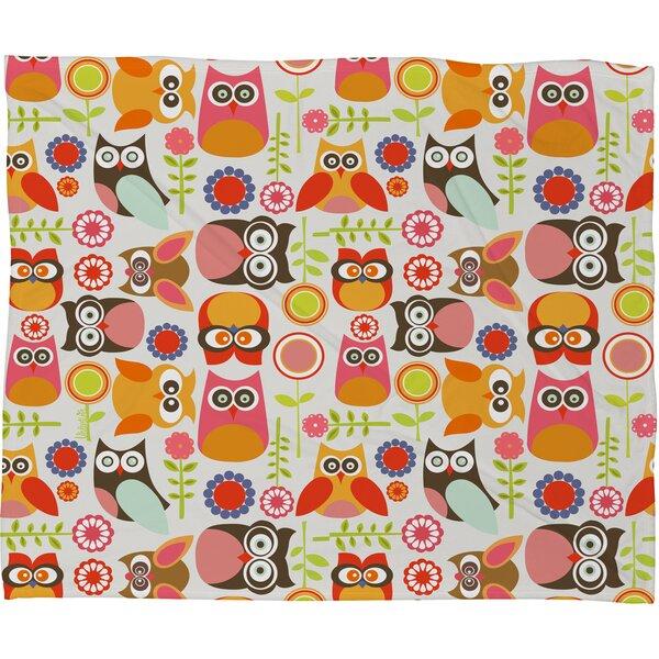 Valentina Ramos Cute Little Owls Throw Blanket by Deny Designs