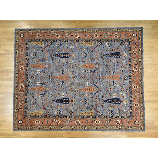 One-of-a-Kind Fullwood Hand-Knotted Blue/Orange 11'10 x 15' Wool Area Rug