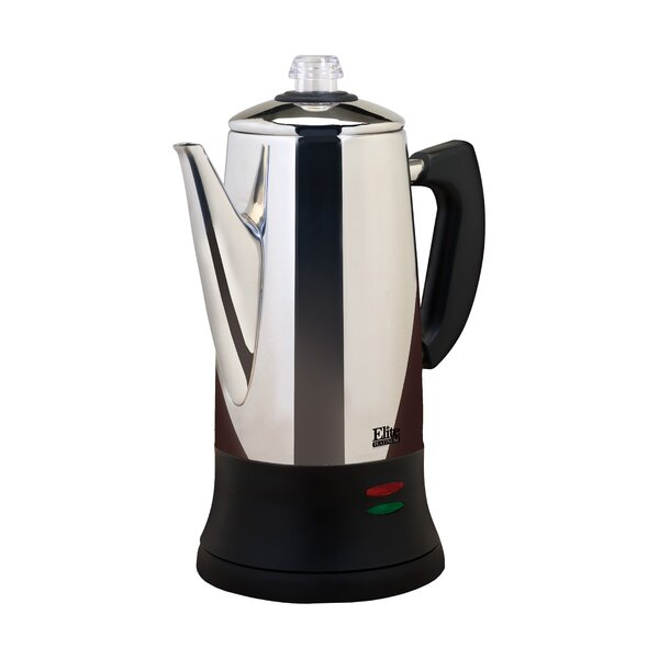Platinum 12-Cup Stovetop Coffee Maker by Elite by Maxi-Matic