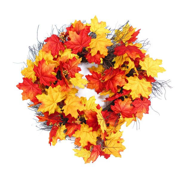 Deluxe Maple 22 Wreath by Millwood Pines