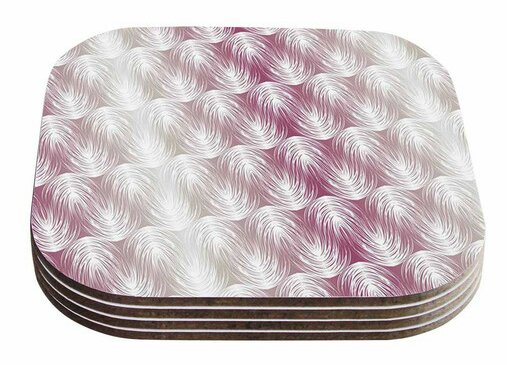 Stripe Palms by Gukuuki Coaster (Set of 4) by East Urban Home