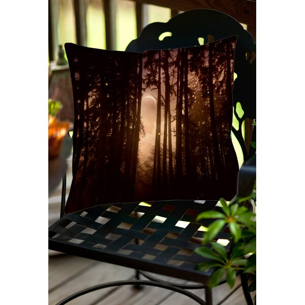 Forest Skyline Indoor/Outdoor Throw Pillow by Manual Woodworkers & Weavers