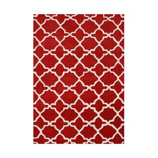 Deals Sixes Hand-Tufted Red Area Rug By The Conestoga Trading Co.