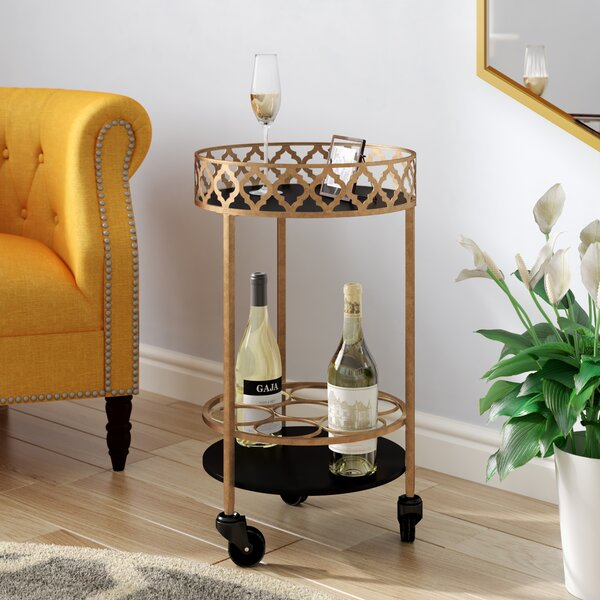 Rivero Quatrefoil Bar Cart by Willa Arlo Interiors Willa Arlo Interiors