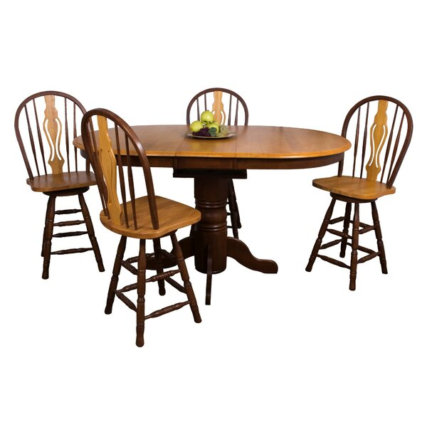 Gonzalez 5 Piece Pub Table Set by Rosalind Wheeler Rosalind Wheeler