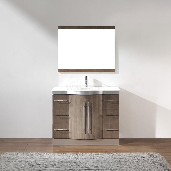 Dinara 42 Single Bathroom Vanity Set with Mirror by Bauhaus Bath