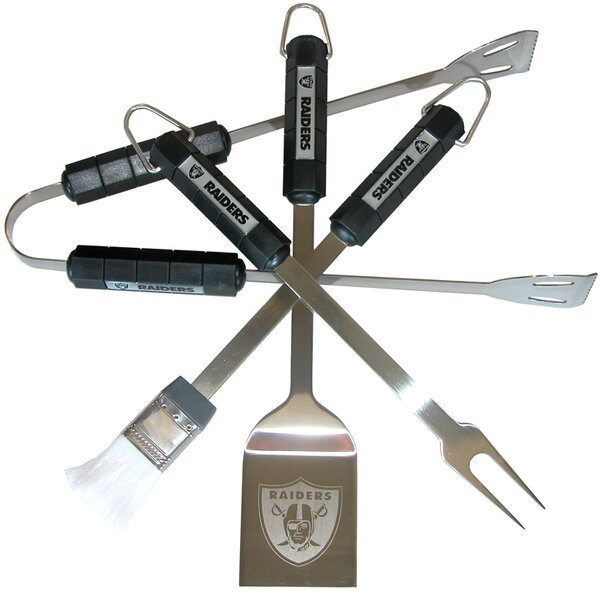 NFL 4 Piece BBQ Grill Tool Set by Siskiyou Products