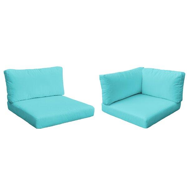 Monaco Outdoor 14 Piece Lounge Chair Cushion Set By TK Classics