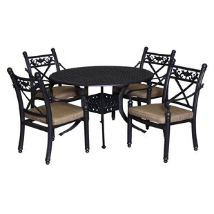Baldwin 5 Piece Dining Set with Cushions By California Outdoor Designs