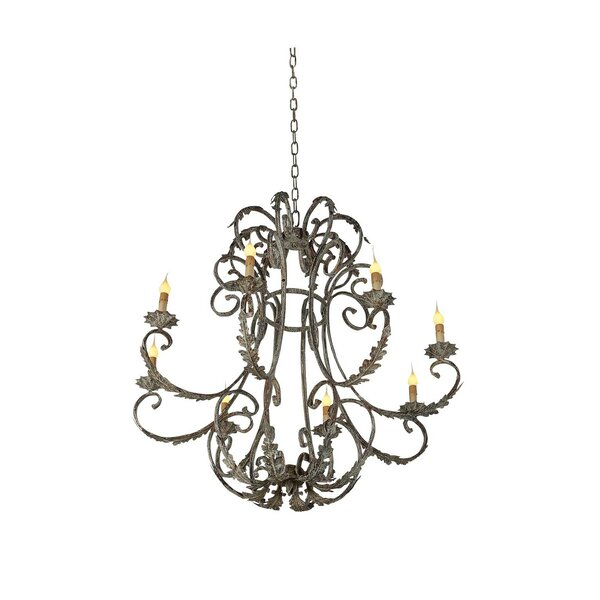 Florance 8 - Light Candle Style Empire Chandelier By Ellahome
