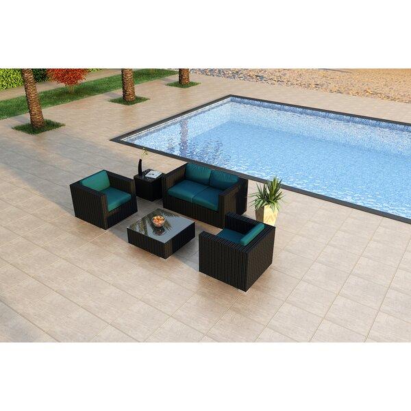 Azariah 4 Piece Sofa Seating Group with Sunbrella Cushions by Orren Ellis