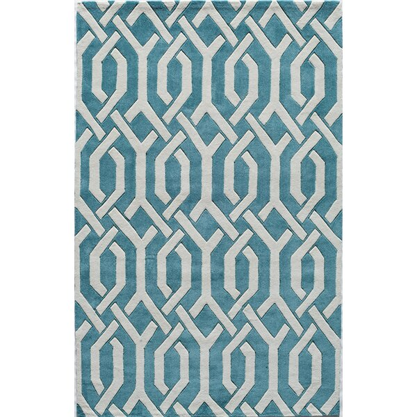 Hand-Tufted Aqua Area Rug by The Conestoga Trading Co.